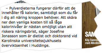 Aftonbladet om Pulverdieten